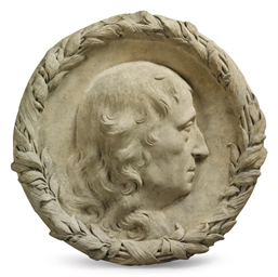 A TERRACOTTA PORTRAIT RELIEF R