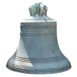 A VICTORIAN BRONZE BELL