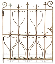 AN ART NOUVEAU WROUGHT-IRON GA