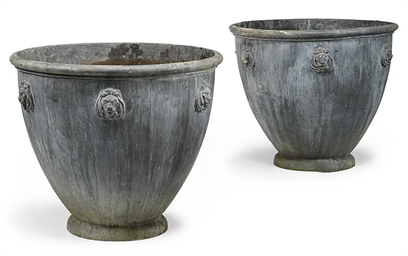 A PAIR OF LEAD PLANTERS