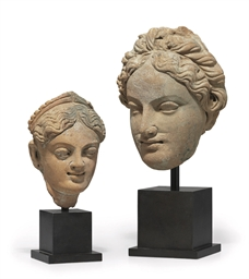 Two Terracotta Heads of Female