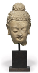 A Large Stucco Head of a Buddh