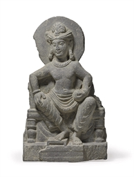 A Gray Schist Stele of a Bodhi