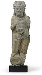 A Gray Schist Standing Figure