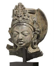 A Terracotta Head of a Deity