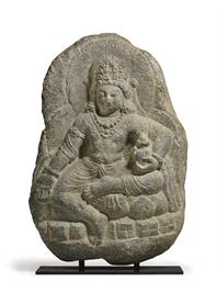 A Stone Figure of Maitreya