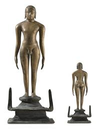 A bronze figure of a Jina