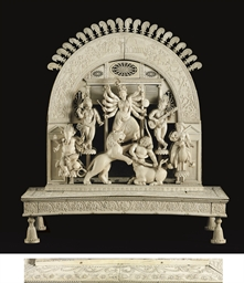 An Ivory altarpiece of Durga M