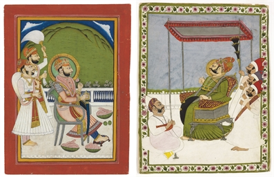 Two portraits of Maharaja Vija