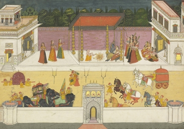A folio from the Bhagavata Pur