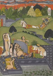 A painting of Lord Krishna obs