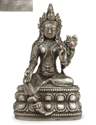 A Silver Figure of Tara