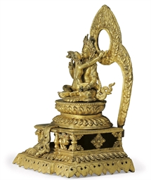 A Gilt Bronze Figure of Chakra