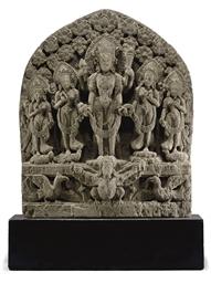 A sandstone stele of Vishnu
