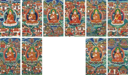 A Set of Ten Thangkas of Tsong
