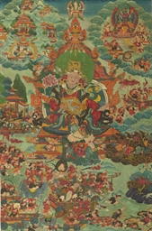 A thangka of Rudra Chakrin