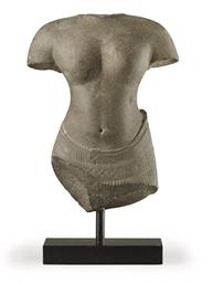 A sandstone torso of Uma
