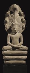 A Stone Figure of Buddha Mucha