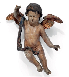 A FLEMISH CARVED WOOD MODEL OF