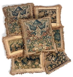 A COLLECTION OF TAPESTRY CUSHI