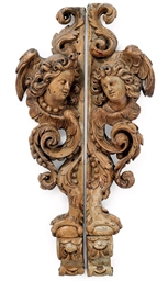 A PAIR OF CONTINENTAL CARVED O