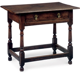 A CHARLES II WALNUT SIDE TABLE