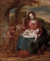 The Virgin and Child with the Infant Saint John the Baptist and an angel
