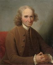 Portrait of John Hume of Ninewells (1709-1786), half-length, in a brown coat and waistcoat