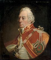 Portrait of Admiral Lord George Keith Elphinstone, 1st Viscount Keith (1746-1823), bust-length, wearing the robes of the order of Bath, in a feigned oval
