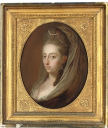 Portrait of a lady, head-and-s