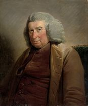 Portrait of Alexander Keith of Dunnottar and Ravelstoun (1705-1792), half-length, in a brown waistcoat and beige coat
