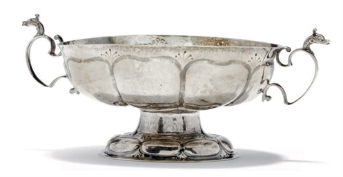 A DUTCH SILVER BRANDY BOWL OF