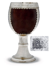 A GEORGE III SILVER-MOUNTED ME