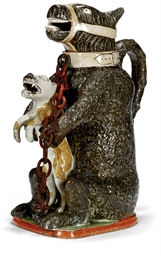 AN ENGLISH PEARLWARE BEAR-BAIT
