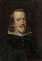 Portrait of Philip IV of Spain, bust length, in black