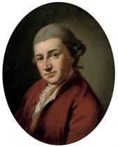 Portrait of David Garrick (1717-1779), bust-length, in a red jacket