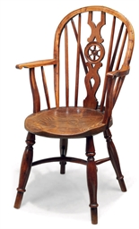A GEORGE IV YEW WOOD WINDSOR A