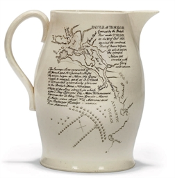 AN ENGLISH CREAMWARE COMMEMORA