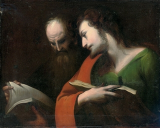 Two Saints reading