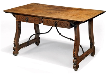 A SPANISH WALNUT TABLE