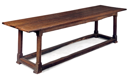 A GEORGE II OAK REFECTORY TABL