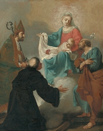 The Holy Family with Saint Nic