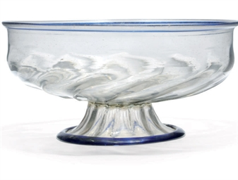 A VENETIAN LARGE FOOTED BOWL