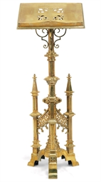 A LATE VICTORIAN BRASS LECTERN
