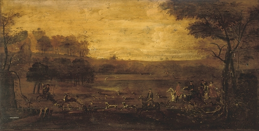 A hunt in an extensive landsca