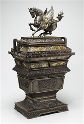 A large bronze incense burner