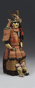 Gold-lacquer armor with Shimazu family crests