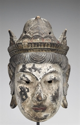 A wood Gyodo mask of Taishakut