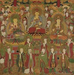 Bodhisattvas and attendants