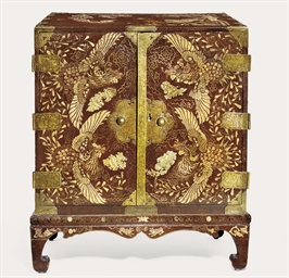 An Inlaid Lacquer Cabinet